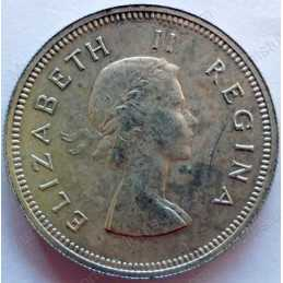 Two Shillings, South Africa, 1960, Silver