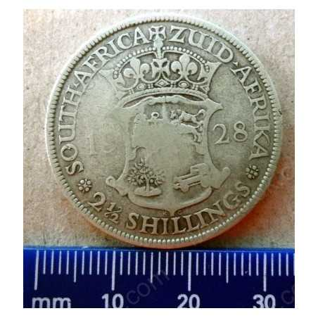 Two and Half Shillings, South Africa, 1928, Silver