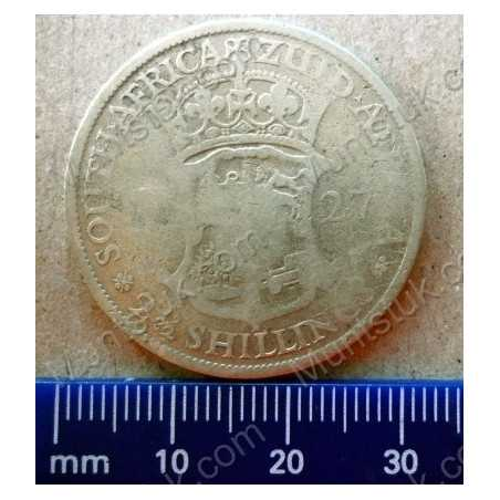 Two and Half Shillings, South Africa, 1927, Silver