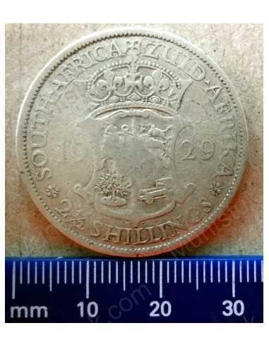 Two and Half Shillings, South Africa, 1929, Silver