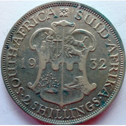 Two and Half Shillings, South Africa, 1932, Silver