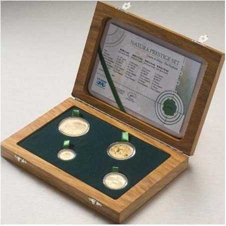 Natura - 2008 The Elephant, Prestige Set(4 coin set, 24 ct gold)