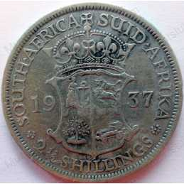 Two and Half Shillings, South Africa, 1937, Silver