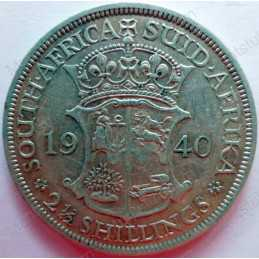 Two and Half Shillings, South Africa, 1940, Silver