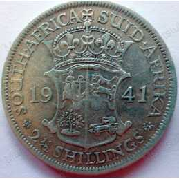 Two and Half Shillings, South Africa, 1941, Silver
