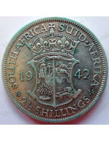 Two and Half Shillings, South Africa, 1942, Silver