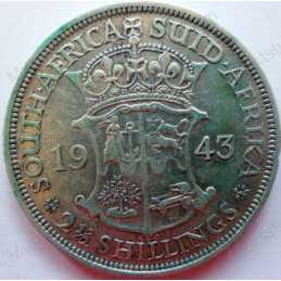 Two and Half Shillings, South Africa, 1943, Silver
