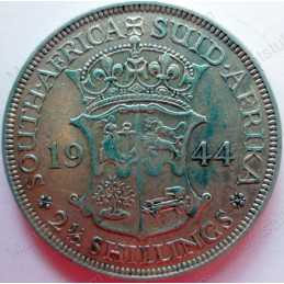 Two and Half Shillings, South Africa, 1944, Silver
