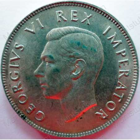 Two and Half Shillings, South Africa, 1945, Silver