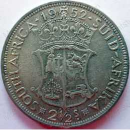 Two and Half Shillings, South Africa, 1952, Silver