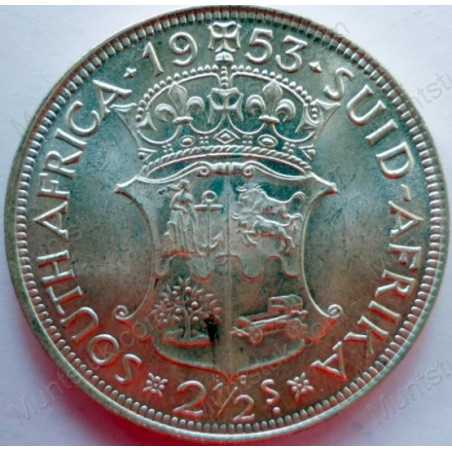 Two and Half Shillings, South Africa, 1953, Silver