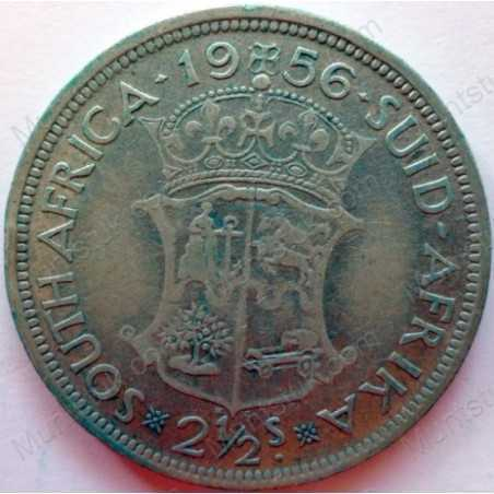 Two and Half Shillings, South Africa, 1956, Silver