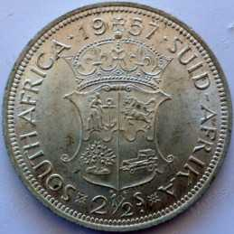 Two and Half Shillings, South Africa, 1957, Silver