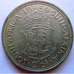 Two and Half Shillings, South Africa, 1959, Silver