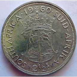 Two and Half Shillings, South Africa, 1960, Silver