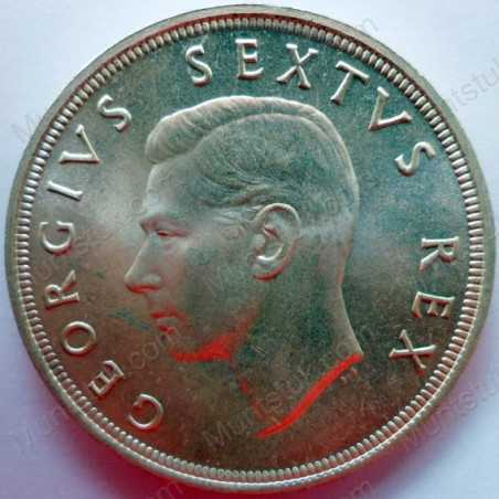 Five Shillings, South Africa, 1952, Silver