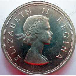 Five Shillings, South Africa, 1953, Silver
