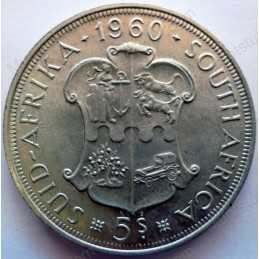 Five Shillings, South Africa, 1960, Silver