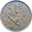 One Cent(Afrikaans), South Africa, 1966, Bronze