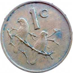 One Cent(Afrikaans), South Africa, 1967, Bronze