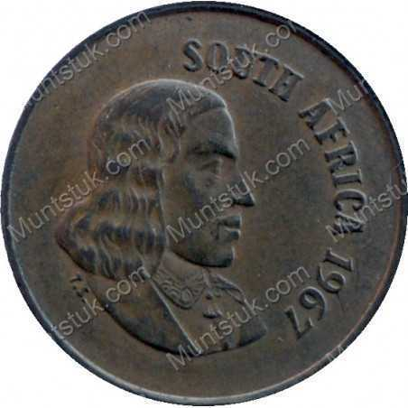 One Cent(English), South Africa, 1967, Bronze