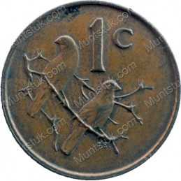 One Cent(English), South Africa, 1968, Bronze
