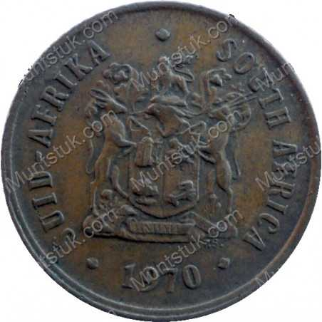 One Cent, South Africa, 1970, Bronze