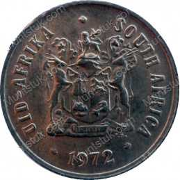 One Cent, South Africa, 1972, Bronze