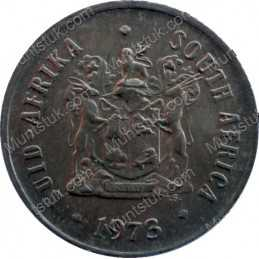 One Cent, South Africa, 1973, Bronze