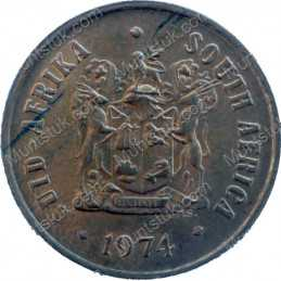 One Cent, South Africa, 1974, Bronze