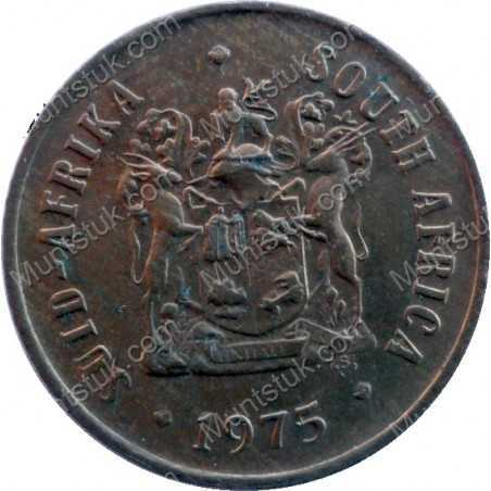 One Cent, South Africa, 1975, Bronze
