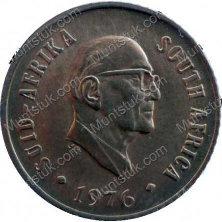 One Cent, South Africa, 1976, Bronze