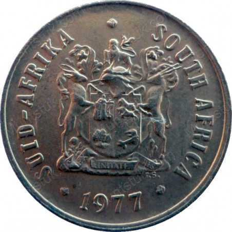 One Cent, South Africa, 1977, Bronze