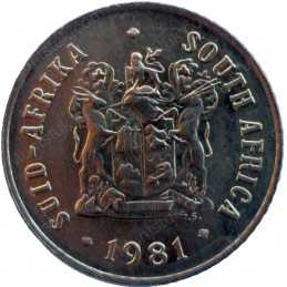 One Cent, South Africa, 1981, Bronze
