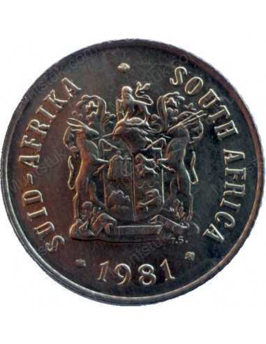 One Cent, South Africa, 1981, Bronze - 635 - South