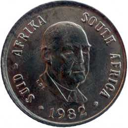 One Cent, South Africa, 1982, Bronze