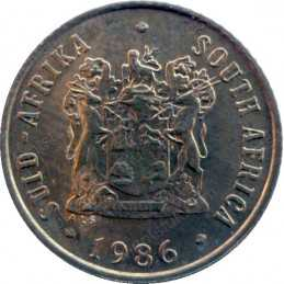 One Cent, South Africa, 1986, Bronze