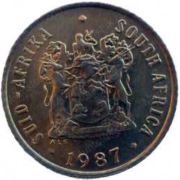 One Cent, South Africa, 1987, Bronze