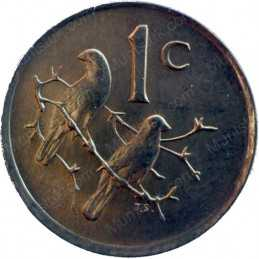 One Cent, South Africa, 1988, Bronze