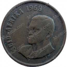 One Cent(Afikaans), South Africa, 1968, Bronze