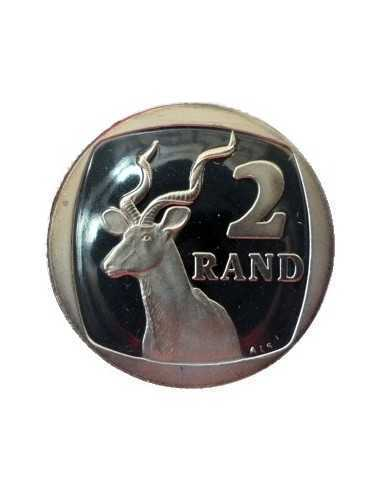 Two Rand, South Africa, 1989, Nickel plated Steel