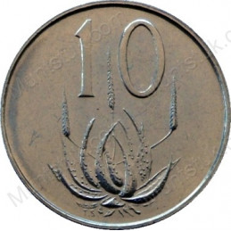 Ten Cent(English), South Africa, 1968, Nickel