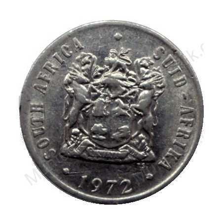 Ten Cent, South Africa, 1972, Nickel