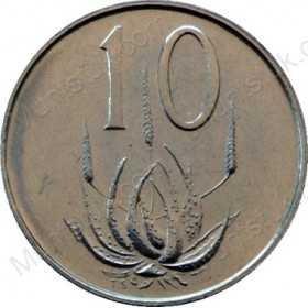 Ten Cent, South Africa, 1975, Nickel