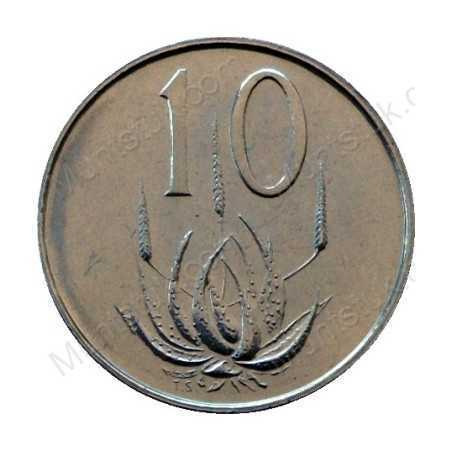 Ten Cent, South Africa, 1975, Nickel