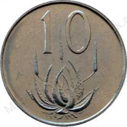 Ten Cent, South Africa, 1980, Nickel