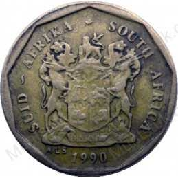 Ten Cent, South Africa, 1990, Bronze plated Steel