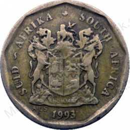 Ten Cent, South Africa, 1993, Bronze plated Steel