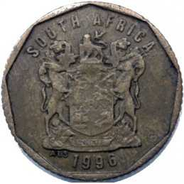 Ten Cent, South Africa, 1996, Bronze plated Steel