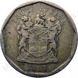 Ten Cent, South Africa, 1998, Bronze plated Steel